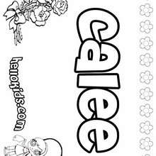 Calee - Coloring page - NAME coloring pages - GIRLS NAME coloring pages - C names for girls coloring sheets