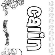 Calin - Coloring page - NAME coloring pages - GIRLS NAME coloring pages - C names for girls coloring sheets