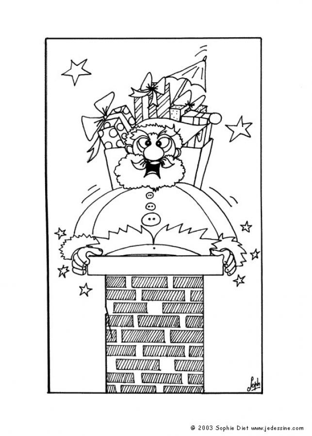 chimney coloring pages christmas - photo#14