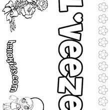 L'Veeze - Coloring page - NAME coloring pages - GIRLS NAME coloring pages - L girl names coloring posters