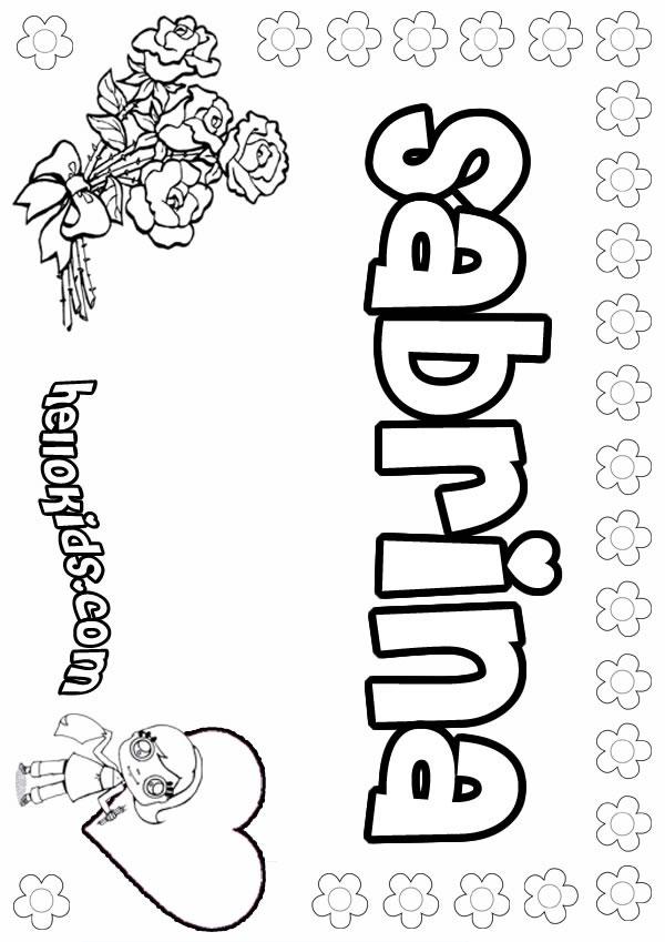 sabrina coloring pages
