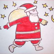 How to draw CHRISTMAS - Santa Claus beard