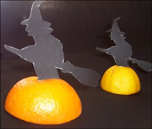 Witch table decoration homemade craft