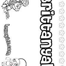 Brittanyah - Coloring page - NAME coloring pages - GIRLS NAME coloring pages - B names for girls coloring sheets