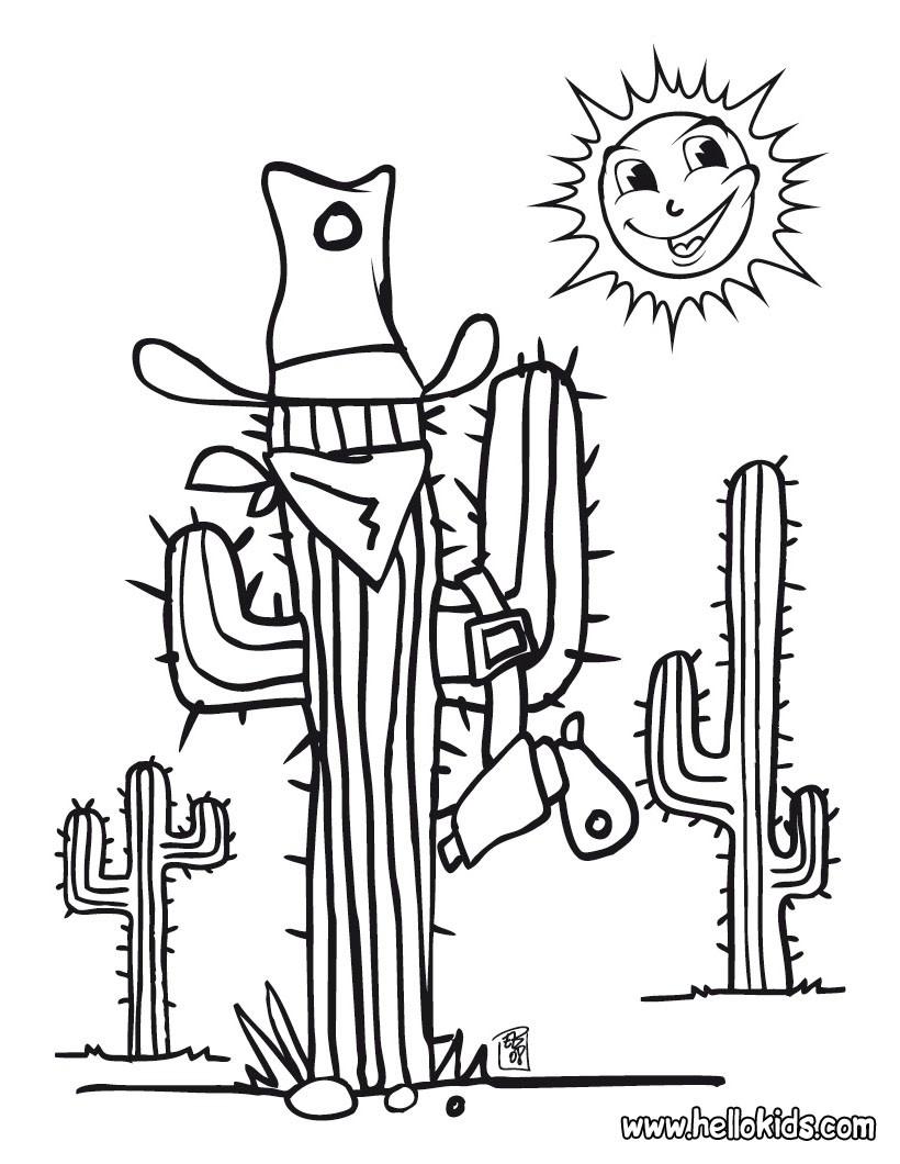 Cactus coloring pages - Hellokids.com