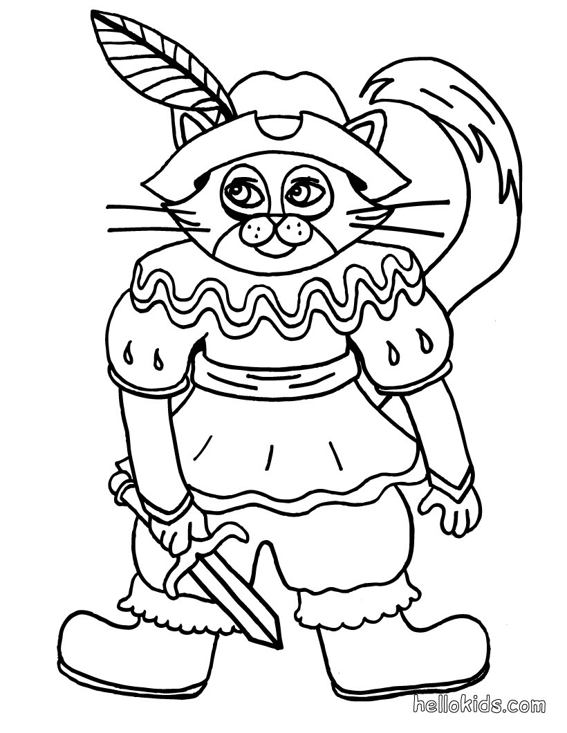 Fairy Cat coloring page