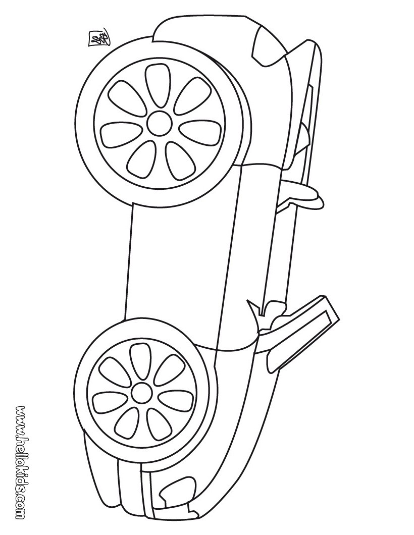 Convertible coloring pages for Convertible car coloring pages