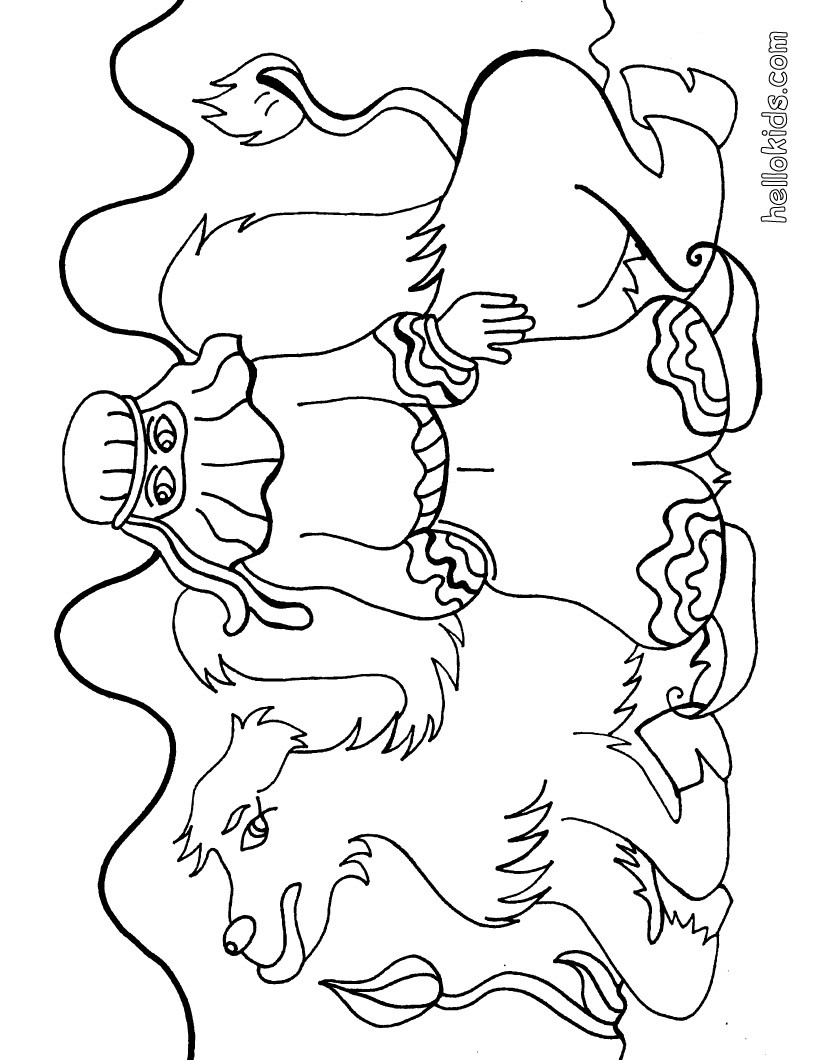 Desert Colouring Pages