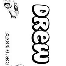 Drew - Coloring page - NAME coloring pages - BOYS NAME coloring pages - D names for Boys coloring book