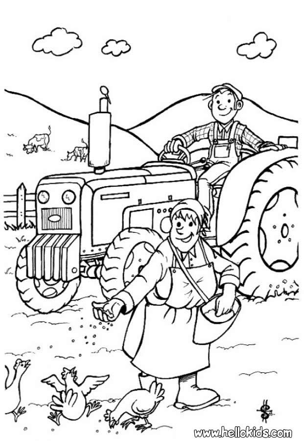 Farmer coloring pages - Hellokids.com
