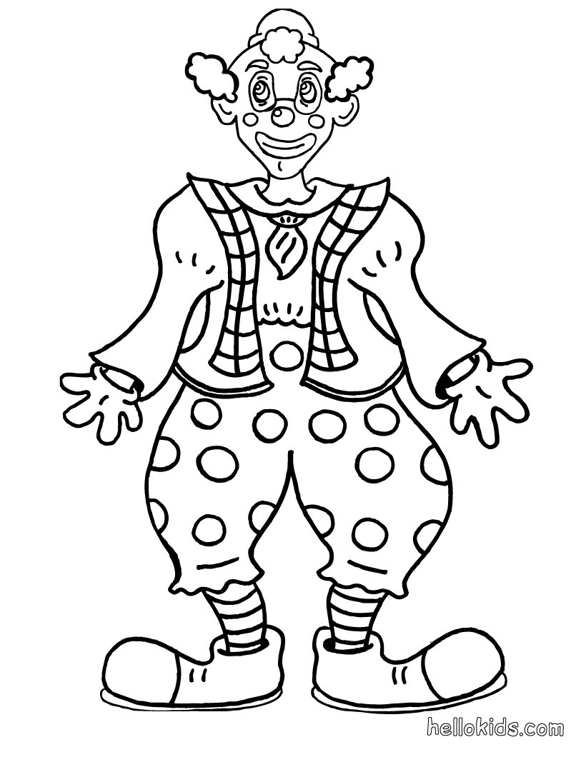 This is a photo of Crush Clown Coloring Page