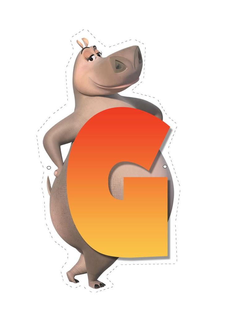 Hippo letter G letter
