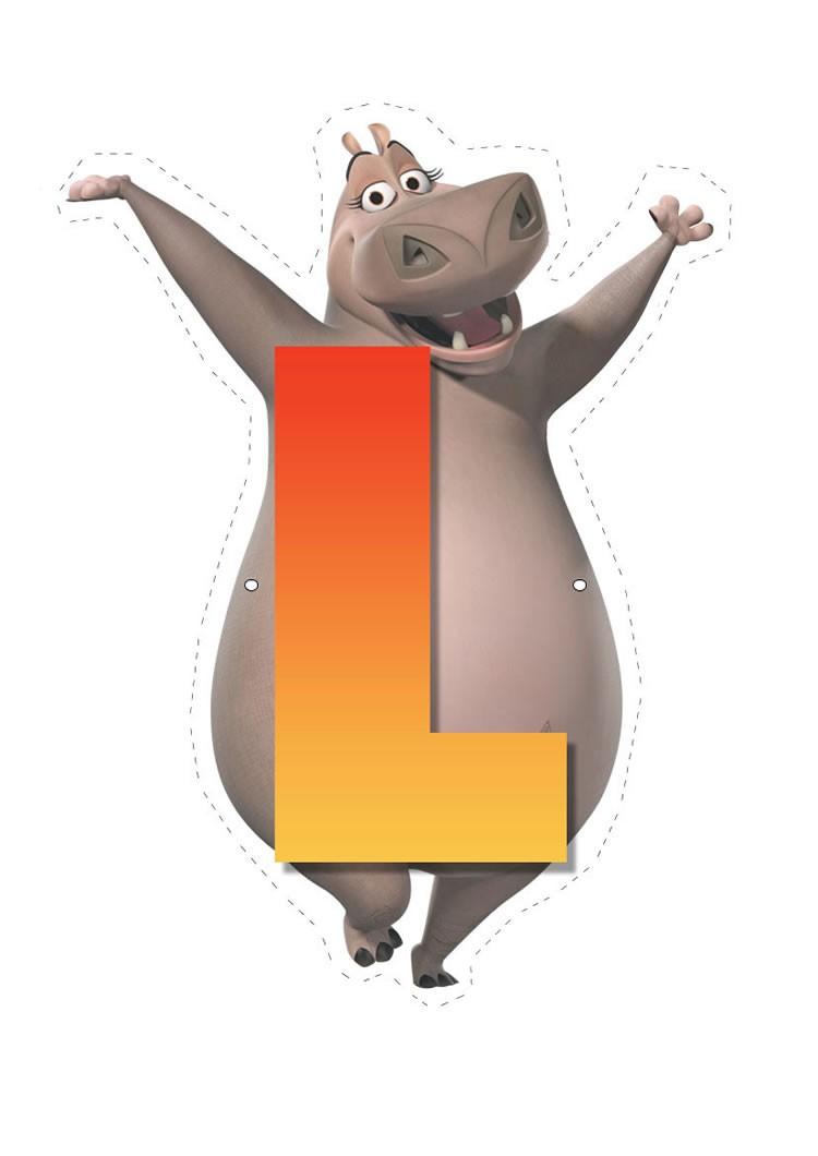 Hippo letter L letter