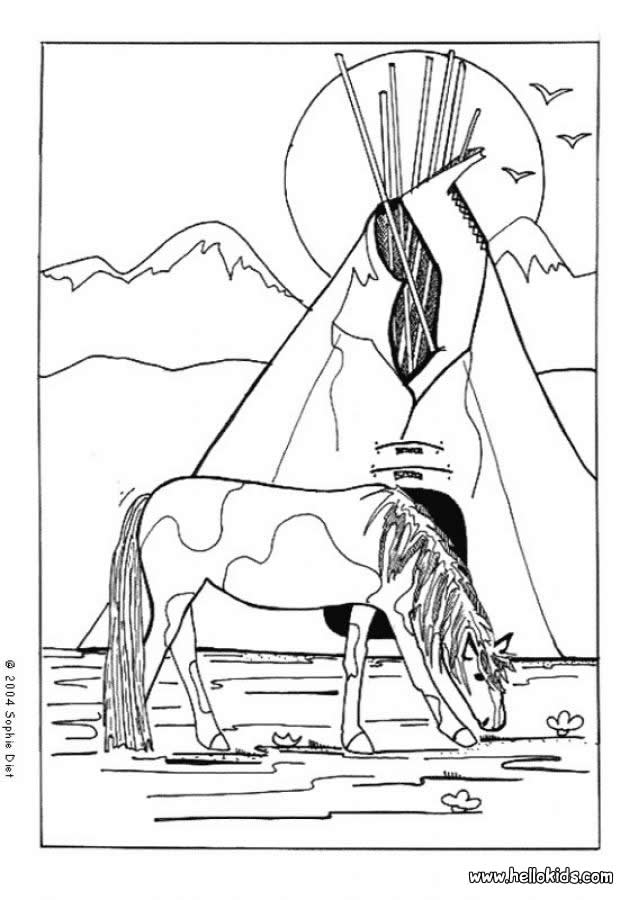 coloring pages of indians - photo#22