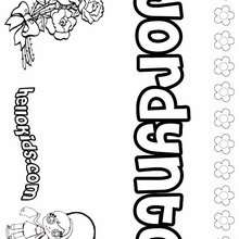 jordynto coloring page name coloring pages girls name coloring pages j names - Coloring Pages With Names