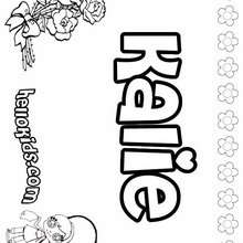 Kalie - Coloring page - NAME coloring pages - GIRLS NAME coloring pages - K names for girls coloring posters