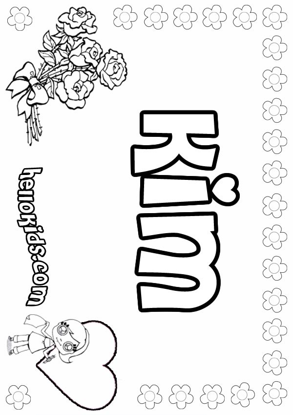 Kim coloring pages Hellokids