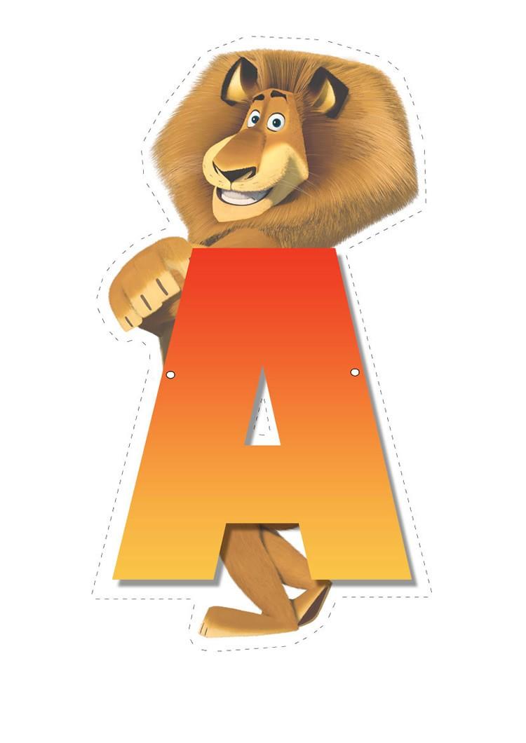 Lion letter A letter