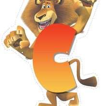 Lion letter C
