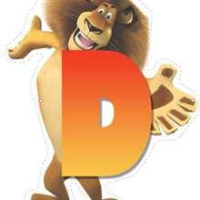 Lion letter D