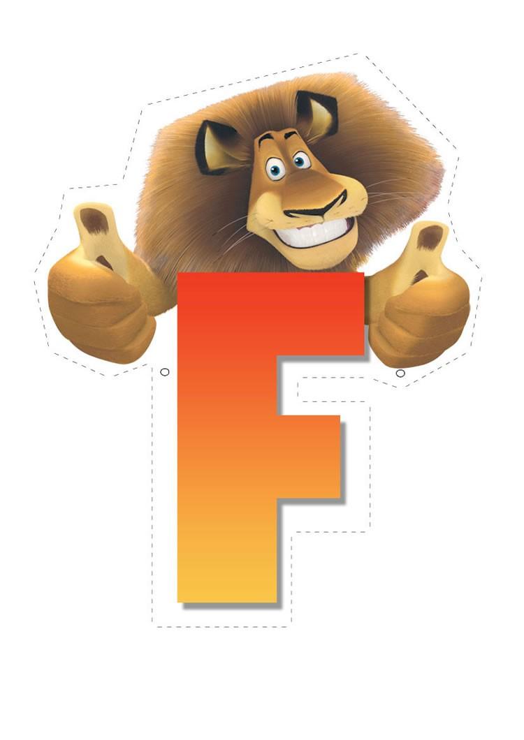 Lion letter F letter
