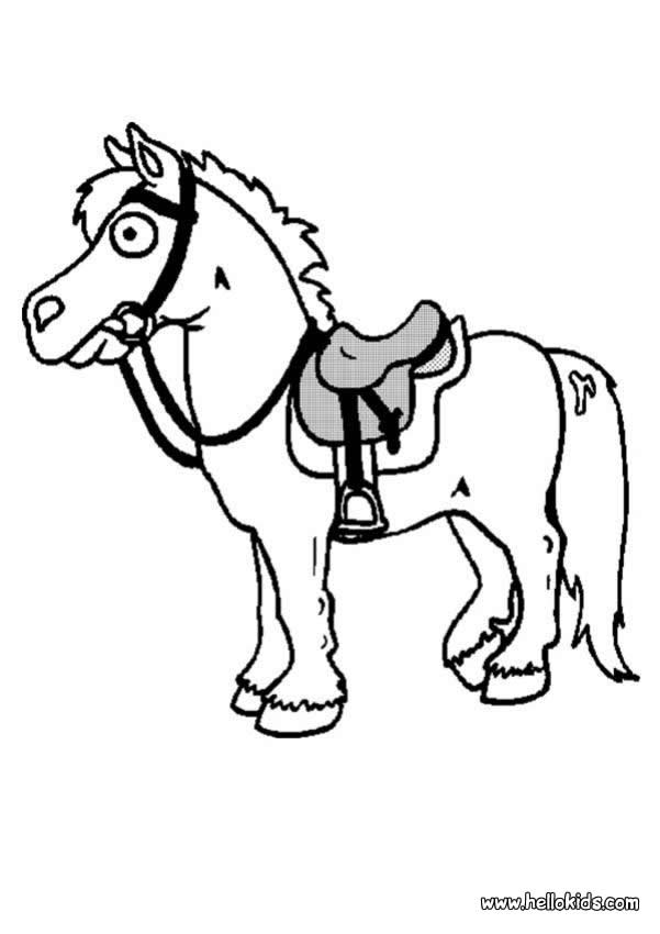 Little horse coloring pages - Clipart cheval ...