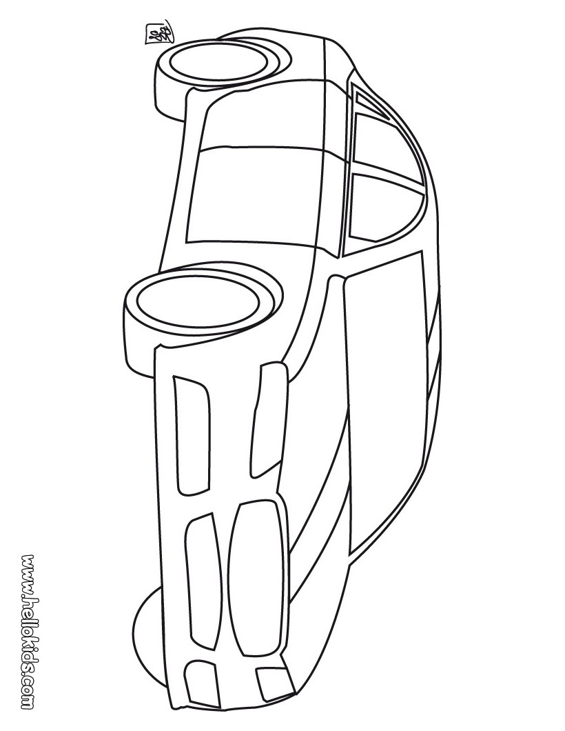 Luxury Car Coloring Pages