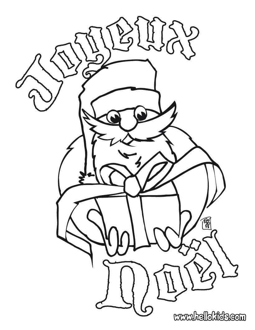 Joyeux Noël coloring page