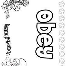 kids coloring pages obey | Obey coloring pages - Hellokids.com