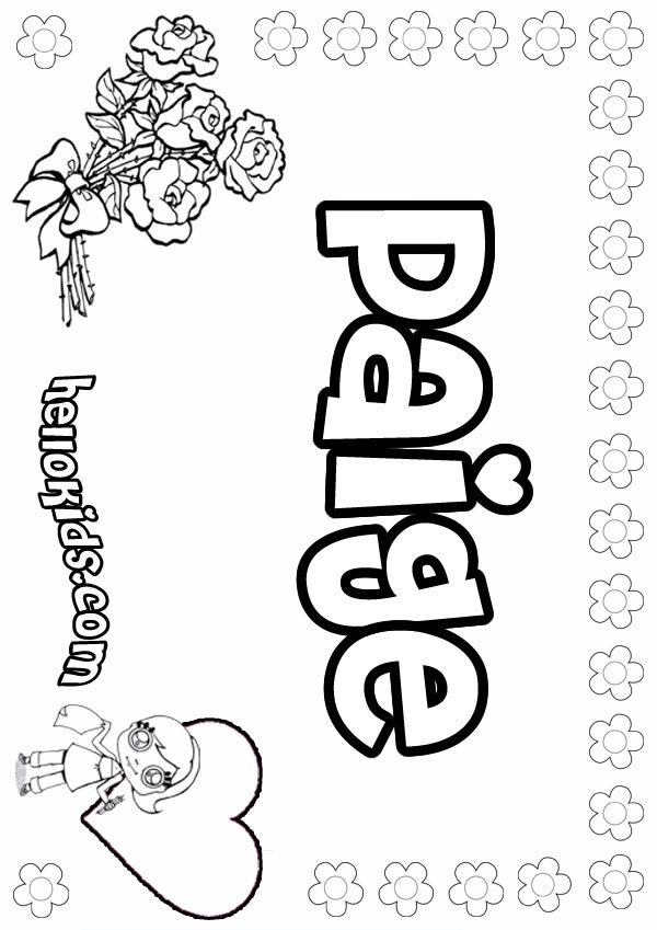 girl names coloring pages - photo#19