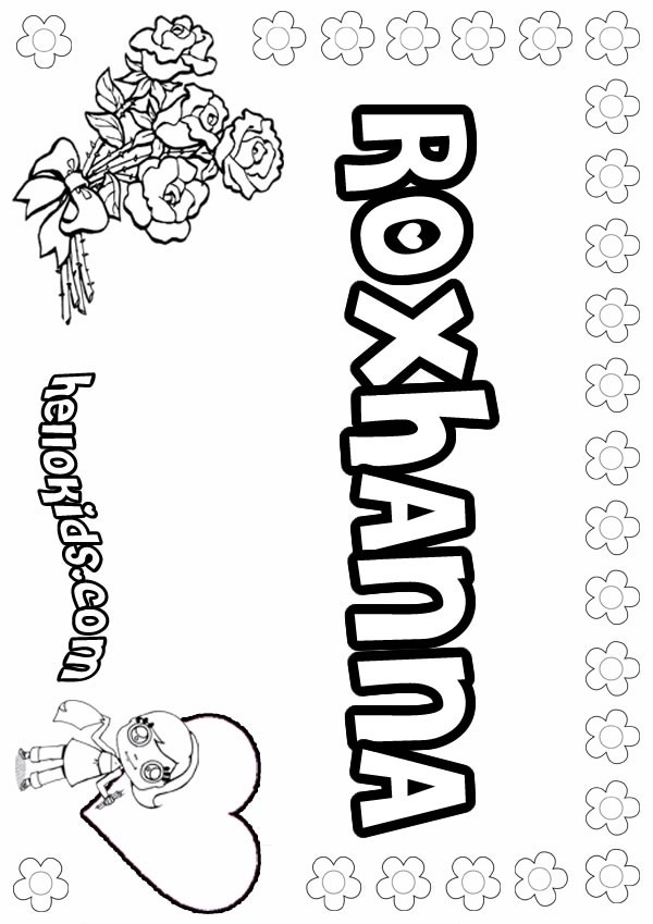 girl names coloring pages - photo#10