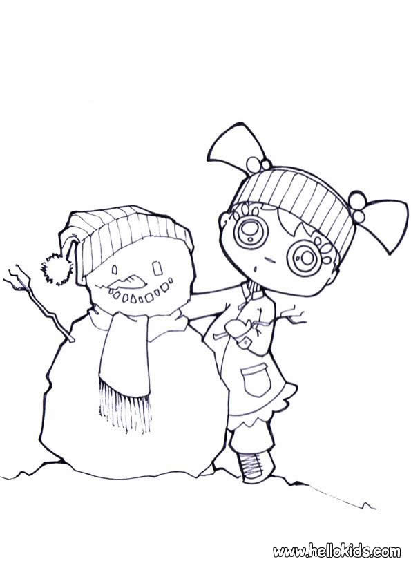 Handmade Snowman Coloring Pages