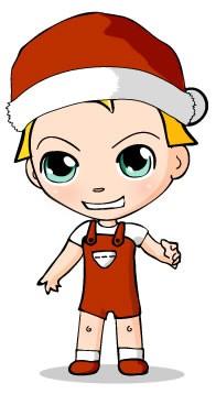 Santa Claus costume artwok design