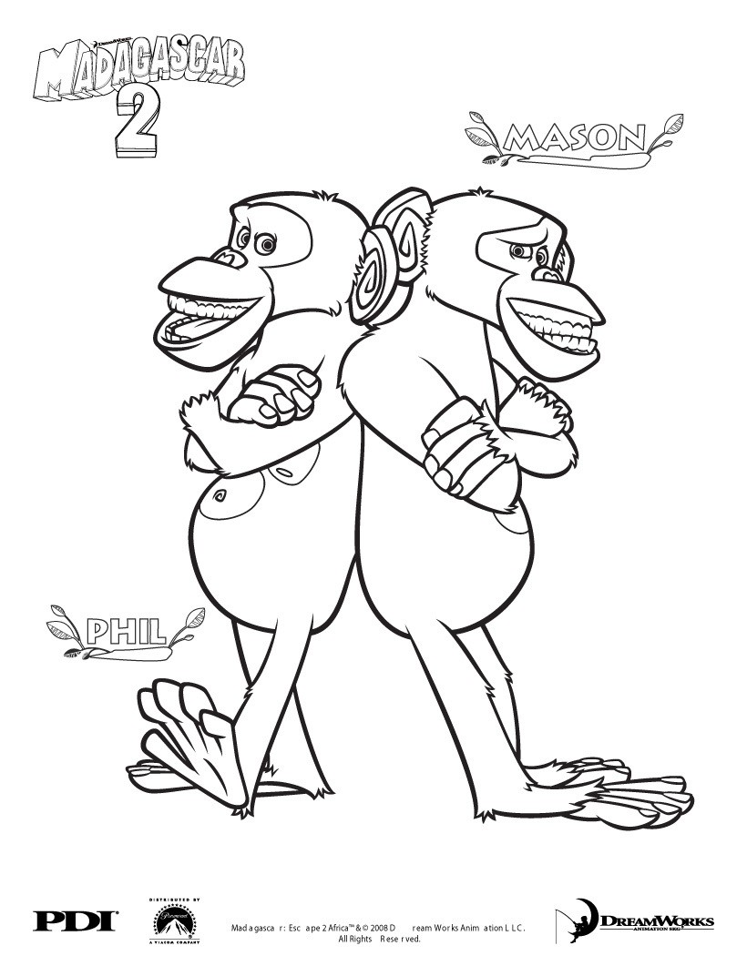christmas coloring pages madagascar - photo#39