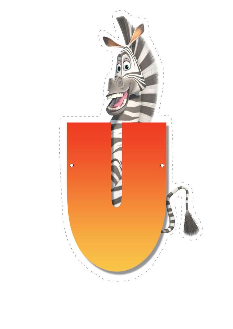 Zebra letter U letter