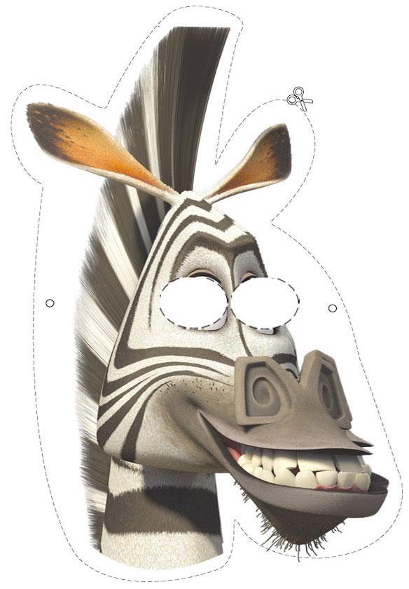 Madagaskar Free Printable Masks.