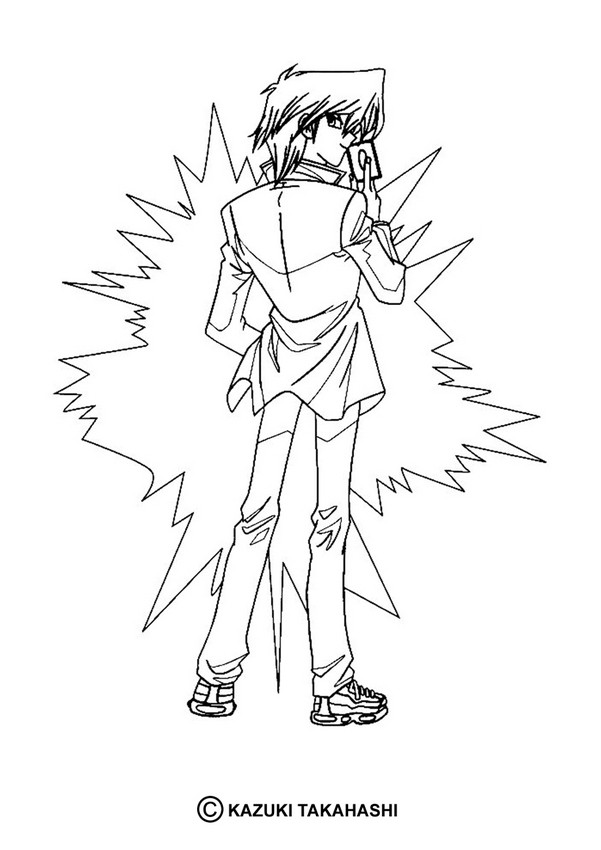 Yugioh 3 coloring pages Hellokids