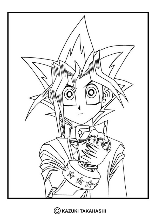 yugioh 4 coloring pages  hellokids