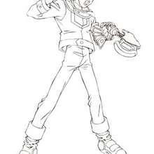 Yugi Moto coloring page - Coloring page - MANGA coloring pages - YU-GI-OH coloring pages