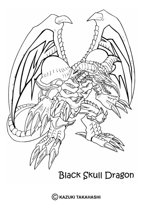 YUGIOH coloring pages Black