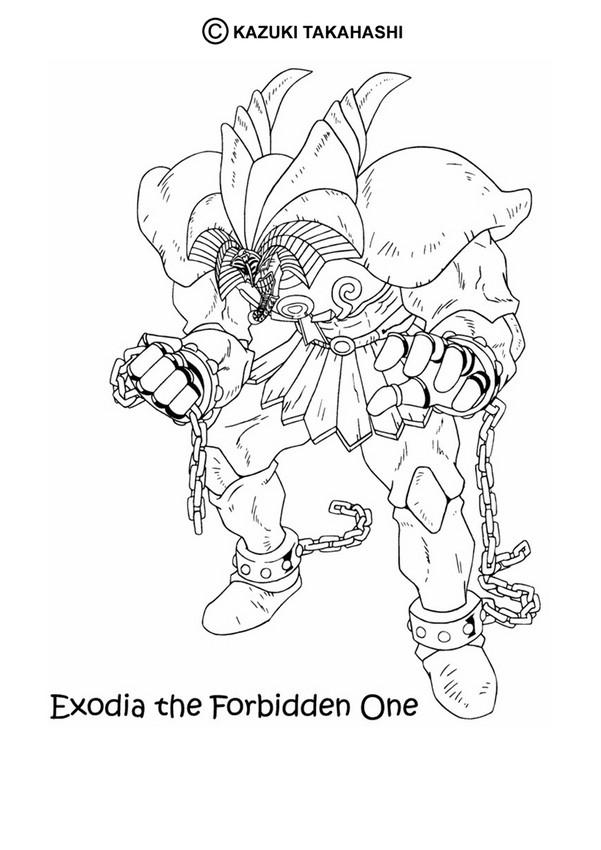 Yugioh Exodia Wallpaper Exodia 1 Coloring Page