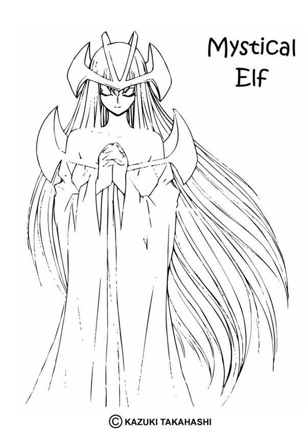 Mystical elf coloring pages - Hellokids.com