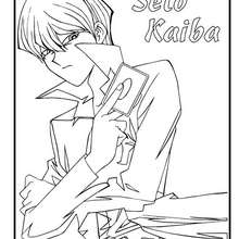 Seto Kaiba coloring page - Coloring page - MANGA coloring pages - YU-GI-OH coloring pages