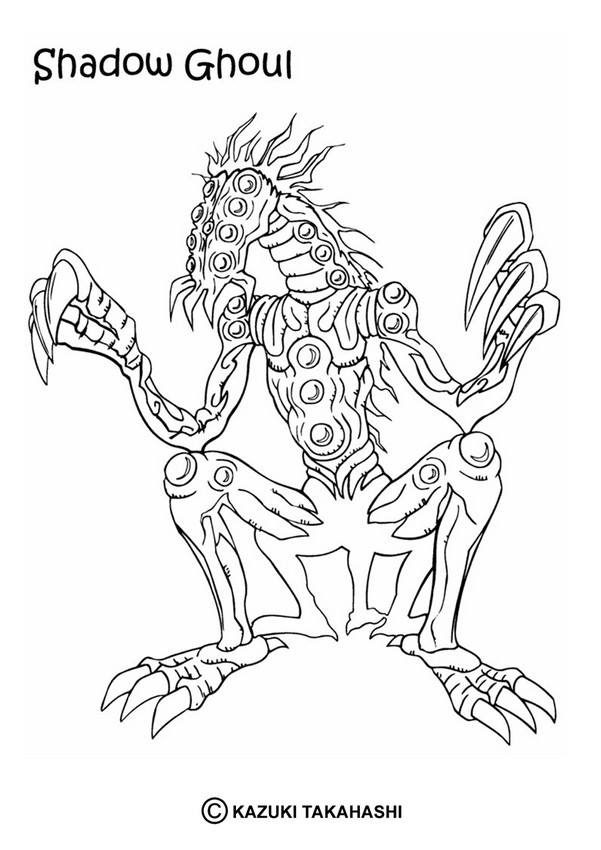 Shadow Ghoul Coloring Pages Hellokids Com