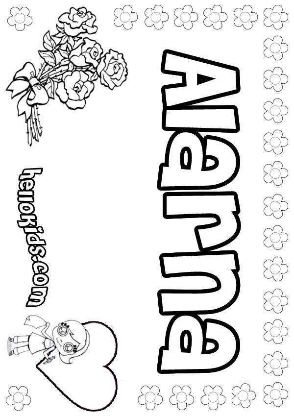 Alarna coloring page