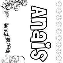 Anais - Coloring page - NAME coloring pages - GIRLS NAME coloring pages - A names for girls coloring sheets