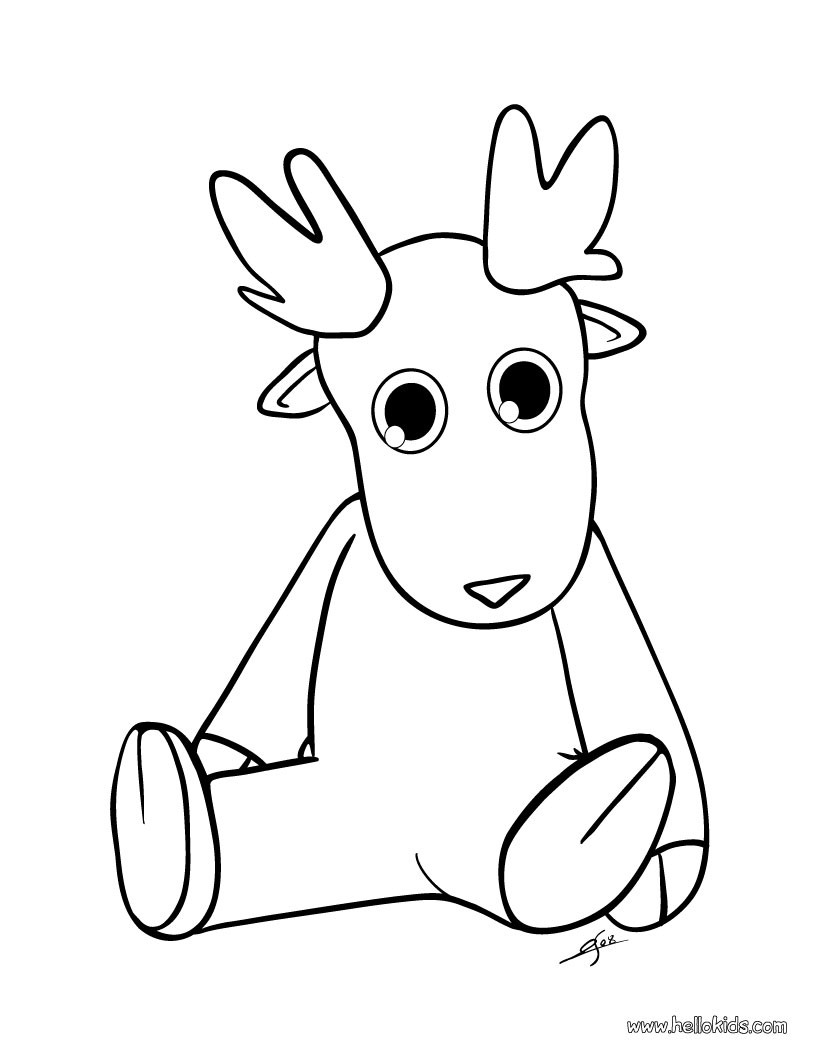 Cute dasher reindeer coloring pages - Hellokids.com