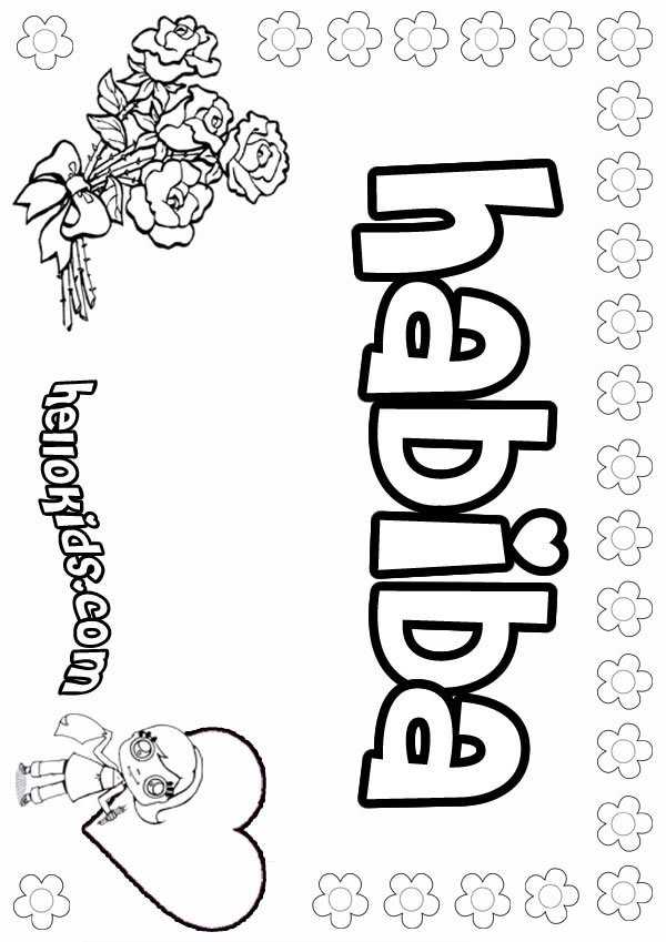 girl names coloring pages - photo#14