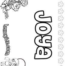 joya coloring page name coloring pages girls name coloring pages j names