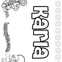 Karla - Coloring page - NAME coloring pages - GIRLS NAME coloring pages - K names for girls coloring posters